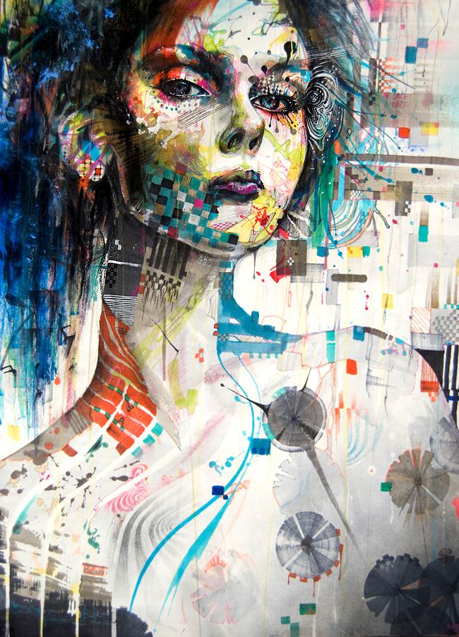 Abstract Human Paintings Human Face And Abstract