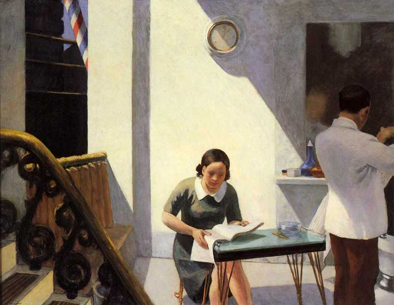 Edward Hopper, 'The Barber Shop,' 1931, oil on canvas