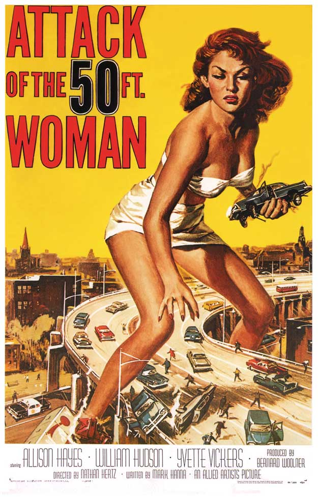 Epic Poster Art Attack-of-the-50ft-woman