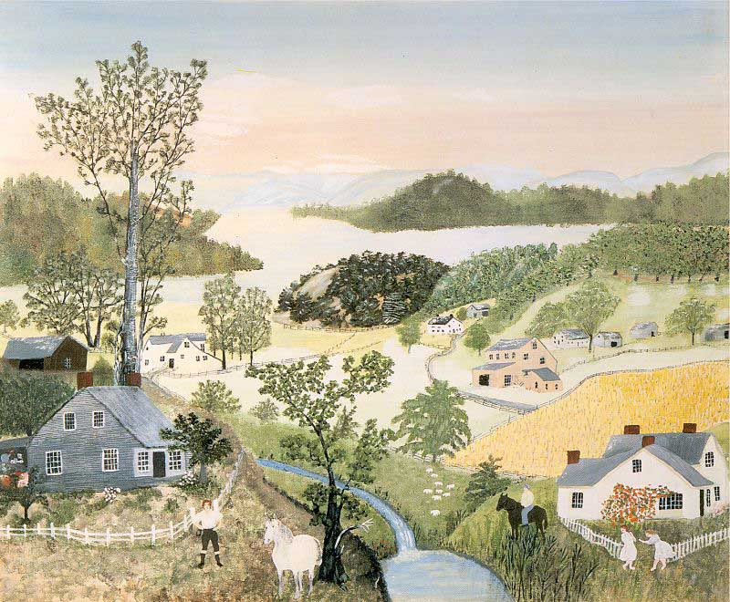 "Image result for 1961 - Anna Mary Robertson Moses, ""Grandma Moses,"" passed away at the age of 101."
