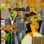 Romare Bearden - One Night Stand-1974