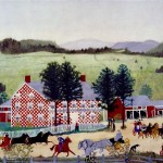 The Old Checkered House-Anna Mary Robertson Moses