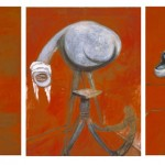Three Studies fo Figures at the Base of a Crucifixion-Francis Bacon-1944