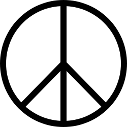The Peace symbol, originally the symbol of the Campaign for Nuclear Disarmament