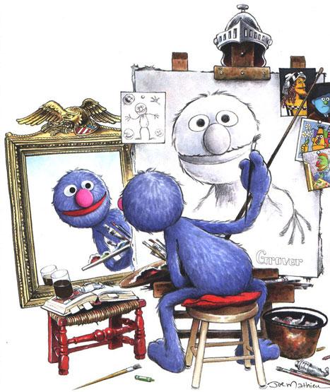 Joe Mathieu: Sesame Street Illustration