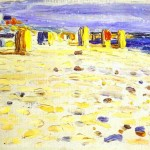 Beach Baskets in Holland - Black and Violet-Wassily Kandinsky-1904