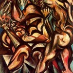 Naked-Man-with-Knife---Jackson-Pollock-1938-40