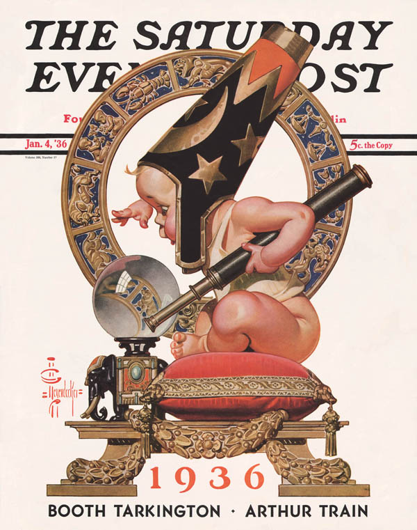 Saturday Evening Post Cover-J.C. Leyendecker 1936