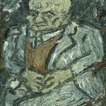 Portrait of Father-Leon Kossoff-1978