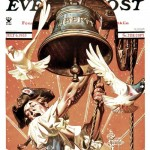 Saturday Evening Post - J.C. Leyendecker Ringing Liberty Bell 1935