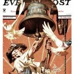 Saturday Evening Post - J.C. Leyendecker Ringing Liberty Bell 1935