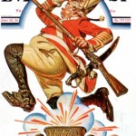 Saturday Evening Post -      J.C. Leyendecker Running Redcoat 1930