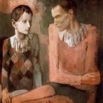 Acróbata y joven arlequín-Pablo-Picasso-Rose Period-1905