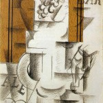 Fruitdish and Glass-Georges Braque-1912