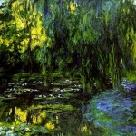 Water-Lily Pond and Weeping Willow-Claude-Monet-1916-19
