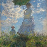 Woman with a Parasol-Camille Monet and her Son Jean-Claude_Monet - 1875