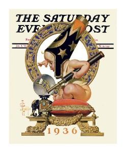 New Years Baby 1936 - Saturday Evening Post-J.C. Leyendecker