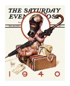 New Years Baby 1940 - Saturday Evening Post-J.C. Leyendecker