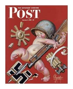 New Years Baby 1943 - Saturday Evening Post-J.C. Leyendecker