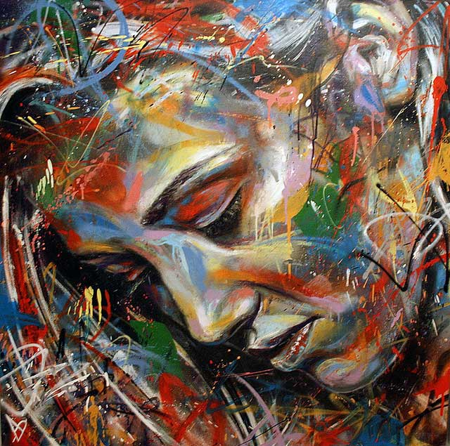 Il mondo di mary antony la street art di david walker for Tableau couleur flashy