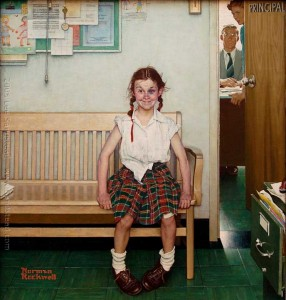 The-Young-Lady-With-a-Shiner-Norman-Rockwell-1953