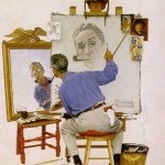 Triple-Self-Portrait-Norman-Rockwell-1960