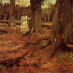 A-Girl-in-White-in-the-Woods-Vincent-van-Gogh-1882