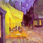 Café Terrace at Night-Vincent van Gogh-1888