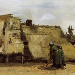 Cottage-with-Woman-Digging-Vincent-van-Gogh-1885