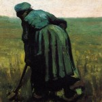 Peasant Woman Digging-Vincent van Gogh-1885