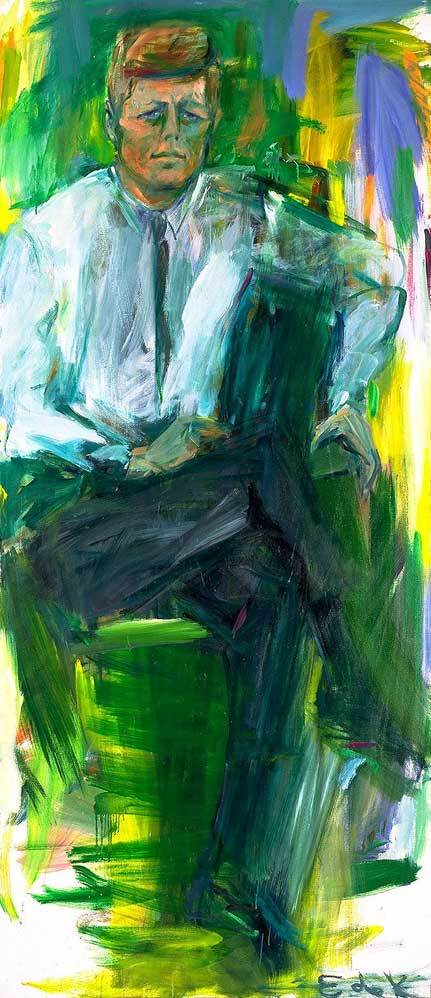Portrait-of-JFK---Elaine-de-Kooning-1963