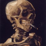 Skull with a Burning Cigarette-Vincent van Gogh-1885-86
