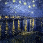 Starry Night Over the Rhone-Vincent van Gogh-1888