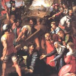 Christ Falls on the Way to Calvary-Raphael-1517