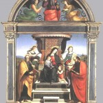 Madonna-and-Child-Enthroned-with-Saints-Raphael-1504-05