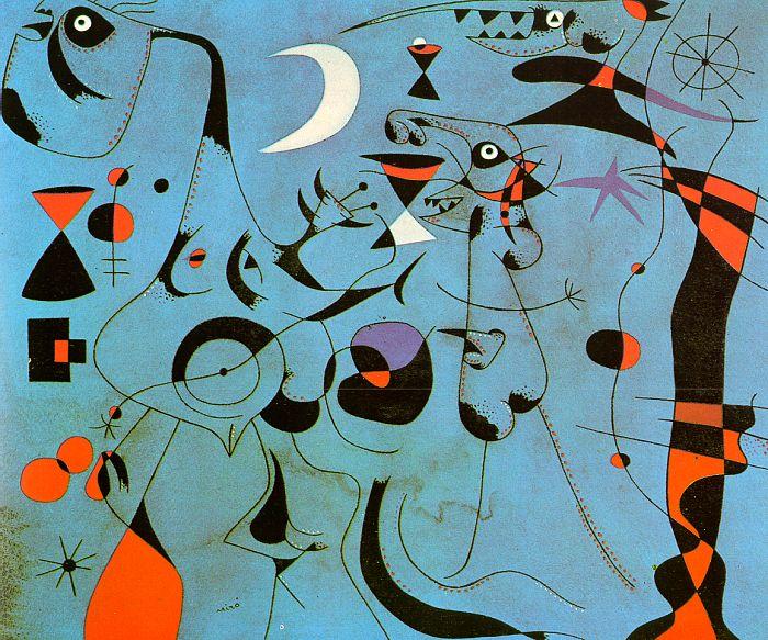 Joan Miró 1893-1983 Painter, Sculptor, printmaker, abstract art.