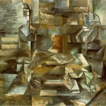 Bottle-and-Fishes-Georges-Braque-1910