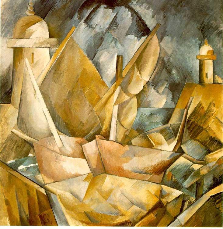Zorz Brak ( Georges Braque ) - Page 2 Harbor-in-Normandy-Georges-Braque-1909