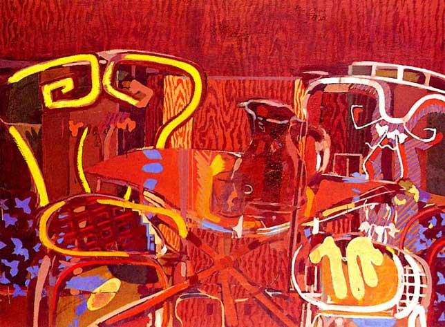Zorz Brak ( Georges Braque ) - Page 2 La-Terrace-Georges-Braque-1948