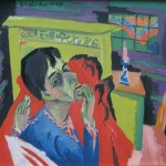 Self Portrait as a Sick Person - Ernst Ludwig Kirchner - 1918
