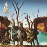 Swans_reflecting_elephants-Salvador-Dali-1937