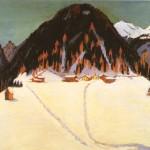 The_Junkerboden_under_snow- Ernst Ludwig Kirchner-1937-38