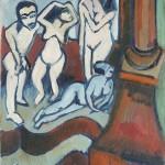 Vier_Holzplastiken- Ernst Ludwig Kirchner-1912