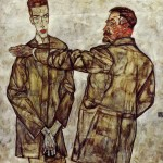 Double-Portrait---Chief-Inspector-Heinrich-Benesch-and-His-Son-Otto---Egon-Schiele-1913