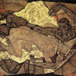 Lovers-Man-and-Woman-1--Egon-Schiele---1914