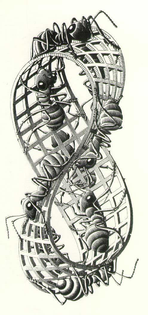 Mobius strip by escher