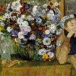 A-Woman-Seated-Beside-a-Vase-of-Flowers-Edgar-Degas-1865