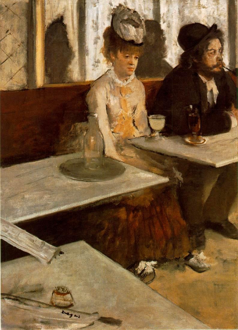 L'absinthe Edgar Degas 1876