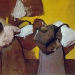 Laundresses-Carrying-LInen-in-Town-Edgar-Degas-1876-78
