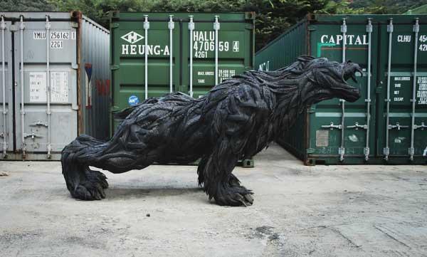 Yong Ho Ji: Recycled Tire Sculpture